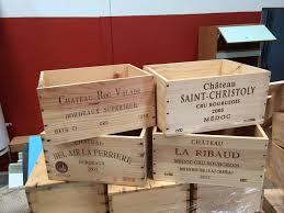 caisse a vin en bois vente caisses vin vides au profit de l association une histoire