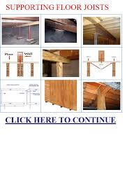 Floor Joist Bracing Support by Supporting Floor Joists Supporting Floor