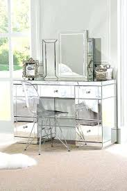 makeup table with lighted mirror and drawers makeup table with