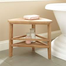 Vanity Benches For Bathroom by Bathroom Decorating Ideas Features Wooden Vanity Stool And Angular