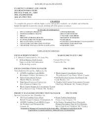 Resume Career Summary Examples Of Qualifications