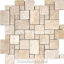 versailles pattern travertine flooring and walling tiles kitchen