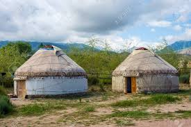 100 Desert Nomad House Yurt Or Ger A Round Shaped Traditional Nomad House Kyrgyzstan