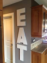 EAT Large Rustic Wood Wall Art 22 Letters By FUNKtionalLLC