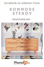 wohnzimmer kommode stenov aus kernbuche massivholz 2 türig