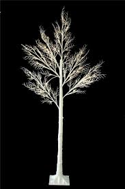 Black Fibre Optic Christmas Tree 7ft by 7ft Christmas Twig Tree Pre Lit 120 Led Warm White Lights Indoor
