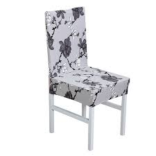 PiccoCasa Elastic Polyester Dining Room Chair Covers Set Of 4 Printed Pattern