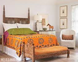A Bedroom Designed In Traditional Indian Style The Furniture Showcases Wooden Craftsmanship At Its Best