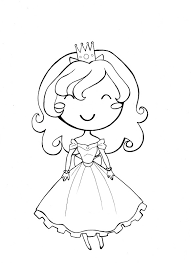 Little Girl Princess Coloring Page