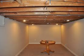 Exposed Basement Ceiling Lighting Ideas by Exposed Basement Ceiling And Exposed Basement Ceiling Antiqued
