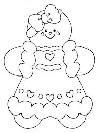Blank Gingerbread Man Digital Art Gallery Coloring Pages