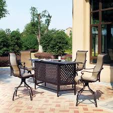 Darlee Patio Furniture Quality by Shop Darlee Monterey Bay 5 Piece Antique Bronze Aluminum Bar Patio