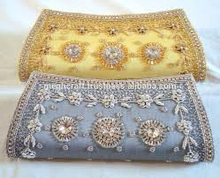 wholesale indian ethnic beaded clutch purse bridal hand purse
