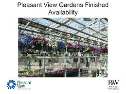 "Pleasant View Gardens Finished Availability 10"" bo Hangers"