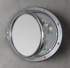 naval porthole mirrored medicine cabinet