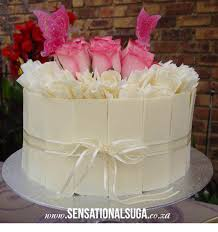 White Chocolate Panel Cake with Fresh Roses