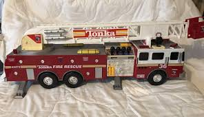 100 Tonka Fire Rescue Truck Vintage 36 Hook And Ladder 03473 Good