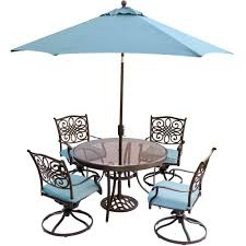 Hanover Traditions 5-Piece Outdoor Dining Set With Round Glass Table,  Swivel Chairs, Umbrella, And Base With Blue Cushions 12m Kids Adjustable Rectangle Table With 6 Chairs Blue Set Chairs Table Stock Illustration Illustration Of Wall Miniature Hand Painted Chair Dollhouse Ding And Bistro The Door Bart Eysink Smeets Print 2018 Rademakers Spring Daffodills Stock Photo Edit Now 119728 Mixed Square 4 With Four Rose Seats Duck Egg Blue Roses Twelfth Scale Miniature Wooden And In Greek Restaurant Editorial Little Tikes Bright N Bold Greenblue Garden Bluegreen Resin Profile Education
