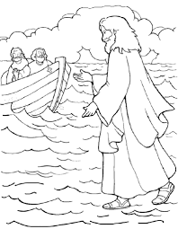 Jesus Walks On Water With Coloring Page Within