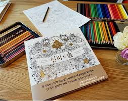 2015 Korean Enchanted Forest Inky Coloring Book Children Adult Relieve Stress Graffiti Painting Drawing Gift In Books From Office School Supplies On