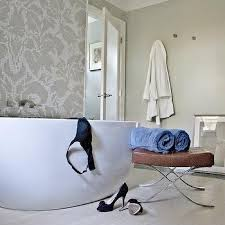 bathrooms damask tiles