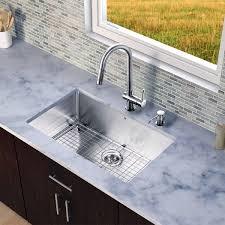Overstock Stainless Kitchen Sinks by Vigo All In One 30 U201d Eldridge Stainless Steel Undermount Kitchen
