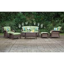 Sams Patio Furniture Covers by Amazon Com La Z Boy Outdoor Sawyer 6 Piece Resin Wicker Patio