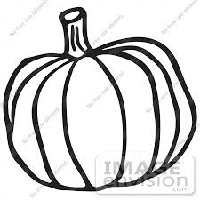 Clipart A Pumpkin In Black And White Royalty Free Vector Illustration by