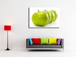 toile deco cuisine tableau décoration cuisine moderne toile imprimée déco pomme verte