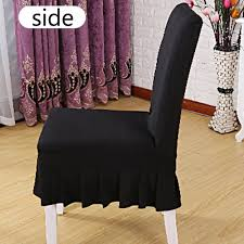 US $4.18 45% OFF|Solid Ruffled Chair Cover Spandex Stretch Elastic Seats  Slipcover Removable Washable For Wedding Banquet Dining Room Hotel Party-in  ... Uxcell Stretch Spandex Round Top Ding Room Chair Covers Long Ruffled Skirt Slipcovers For Shorty Seat Dark Yellow 1pc How To Make Ding Chair Slipcovers Tie On With Ruffpleated Skirt Kitchen Covers Sale Flowers Kitchen Us 418 45 Offsolid Cover Elastic Seats Slipcover Removable Washable For Wedding Banquet Hotel Partyin Mrsapocom Bm Antidirty Decor A Hgtv Best Parson Chairs Create Awesome Home Stretchy Thicken Plush Short Protector Beautiful Linen 4 Sided Ruffle Large Off White Dcor