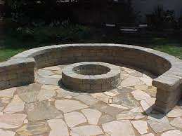 Belgard Weston Seating Wall Around Fire Pit Patios Fire pits