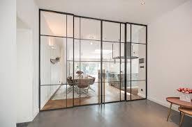 moderne lofttüren aus glas stahl schöner wohnen