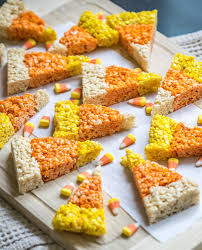Rice Krispie Treats Halloween Theme by Candy Corn Rice Krispie Treats Follow The Ruels