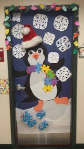 Winter Classroom Door DecorationsAutism Awareness Penguin Created By