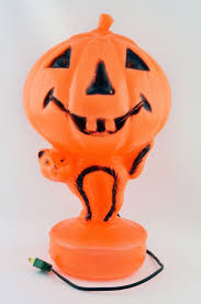 Vintage Halloween Ghost Blow Mold by Vintage Halloween Jack O Lantern Pumpkin Cat Blowmold Light Up