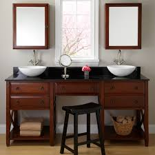 Double Bathroom Vanities With Dressing Table by Double Bathroom Vanities With Makeup Area Bathroom Decoration