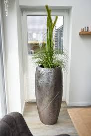pflanzkübel pflanzgefäß fiberglas royal 107x50 cm silber