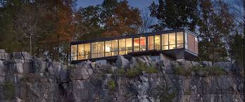 100 Glass House Project CliffSide Contemporary Falling Waters West