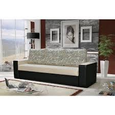 moebel sofa designersofa leeds 3 sitzer mit schlaffunktion schwarz beige