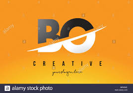 100 By Bo Design BO B O Letter Modern Logo With Swoosh Cutting The