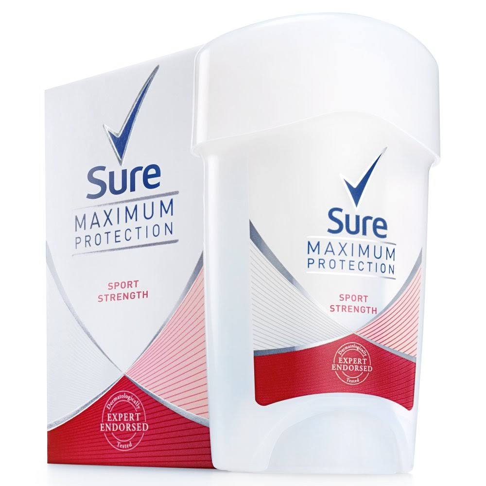 Sure Maximum Protection Sport Strength Anti Perspirant Cream Stick - 45ml