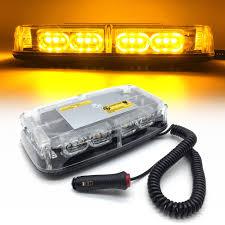 100 Strobe Light For Trucks Amber Truck Vehicle Car Roof Top LED Flash Auto Hazard