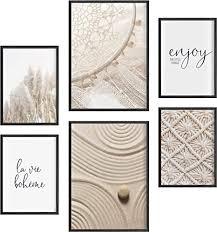 félice deko bilder für das wohnzimmer modern und angesagt premium poster set traumfänger deko wand bild dekoration wohnung modern