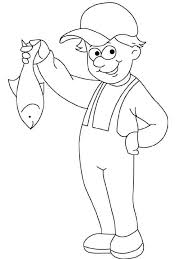 Coloring Page Fisherman Jobs 11