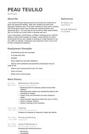 Maintenancetechnicianresume Example Sample Resume Maintenance Technician