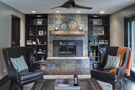 Good Looking Mantel Shelf Fashion Other Metro Rustic Living Room Innovative Designs With Accent Pillows Black Armchairs