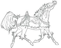 Printable Horse Coloring Page Realistic