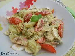 cuisiner cepes frais dey cuisine salade de pommes de terre aux chignons pesto