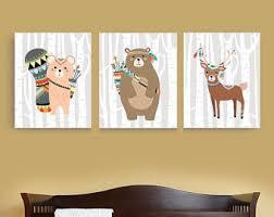 Woodland Creatures Nursery Bedding by Tribal Owl Set Woodland Animal Nursery Decor Printable