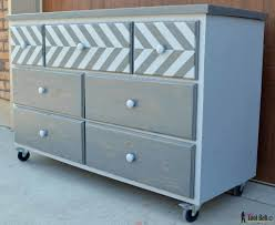 7 Drawer Dresser Built From Pallets With A Chevron Top